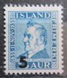 Poštovní známka Island 1939 Matthías Jochumsson, básník, přetisk Mi# 203