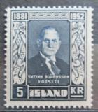 Poštovní známka Island 1952 Prezident Sveinn Björnsson Mi# 283 Kat 11€