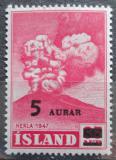 Poštovní známka Island 1954 Erupce sopky Hekla přetisk Mi# 292