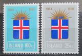 Poštovní známky Island 1969 Vznik republiky, 25. výročí Mi# 430-31 Kat 6.50€