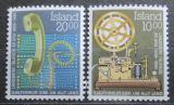 Poštovní známky Island 1986 Telefon a telegraf Mi# 658-59