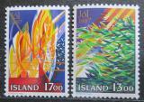 Poštovní známky Island 1987 Vánoce, umění, Thordur Hall Mi# 678-79