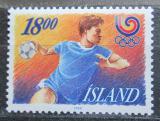 Poštovní známka Island 1988 LOH Soul, házená Mi# 688