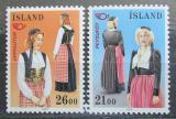 Poštovní známky Island 1989 Lidové kroje Mi# 699-700