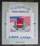 Poštovní známka Adžmán 1967 Skautské hnutí Mi# Block 15 B