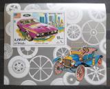 Poštovní známka Adžmán 1971 Ford Mustang neperf. Mi# Block 291 B Kat 10€