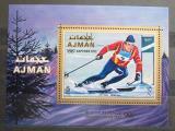 Poštovní známka Adžmán 1970 ZOH Sapporo Mi# Block 222 A Kat 8.50€
