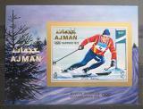 Poštovní známka Adžmán 1970 ZOH Sapporo neperf. Mi# Block 222 B Kat 13€