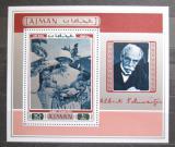 Poštovní známka Adžmán 1971 Albert Schweitzer Mi# Block 271 A