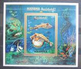 Poštovní známka Manáma 1971 Ryby Mi# Block 156 A