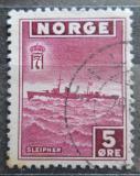 Poštovní známka Norsko 1945 Torpédoborec Mi# 276