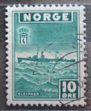 Poštovní známka Norsko 1945 Torpédoborec Mi# 278
