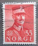 Poštovní známka Norsko 1957 Král Haakon VII. Mi# 416