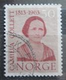 Poštovní známka Norsko 1963 Camilla Collett, spisovatelka Mi# 485