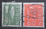 Poštovní známky Norsko 1964 Uzel a ryba Mi# 524-25