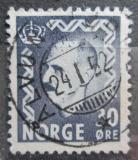 Poštovní známka Norsko 1951 Král Haakon VII. Mi# 360