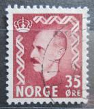 Poštovní známka Norsko 1956 Král Haakon VII. Mi# 397