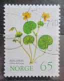 Poštovní známka Norsko 1973 Violka dvoukvětá Mi# 671