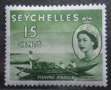 Poštovní známka Seychely 1954 Rybářská loď Mi# 175