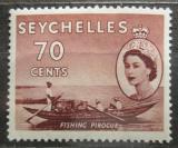 Poštovní známka Seychely 1956 Rybářská loď Mi# 183