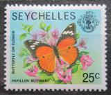 Poštovní známka Seychely 1978 Motýl Mi# 398 Kat 3€