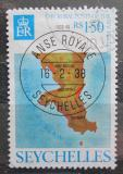 Poštovní známka Seychely 1976 Mapa Mi# 347