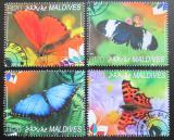 Poštovní známky Maledivy 2014 Motýli Mi# 2425-28