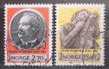 Poštovní známky Norsko 1990 Johan Svendsen, skladatel Mi# 1054-55