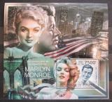 Poštovní známka Burundi 2012 Marilyn Monroe Mi# Block 256 Kat 9€