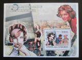 Poštovní známka Komory 2009 Romy Schneider Mi# Block 467 Kat 15€