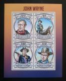 Poštovní známky Burundi 2013 John Wayne Mi# 3043-46 Kat 9.90€
