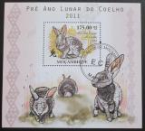 Poštovní známka Mosambik 2010 Rok zajíce Mi# Block 376 Kat 10€