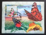 Poštovní známka Mosambik 2007 Motýli Mi# Block 213 Kat 10€