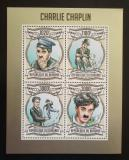 Poštovní známky Burundi 2013 Charlie Chaplin Mi# 3033-36 Kat 9.90€