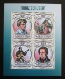 Poštovní známky Burundi 2013 Franz Schubert, skladatel Mi# 3023-26 Kat 9.90€