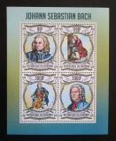 Poštovní známky Burundi 2013 Johann Sebastian Bach Mi# 2988-91 Kat 8.90€