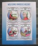 Poštovní známky Burundi 2013 Wolfgang Amadeus Mozart Mi# 3013-16 Kat 9.90€
