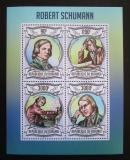 Poštovní známky Burundi 2013 Robert Schumann, skladatel Mi# 2993-96 Kat 8.90€
