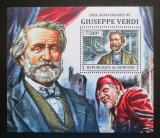 Poštovní známka Burundi 2013 Giuseppe Verdi, skladatel Mi# Block 376 Kat 9€