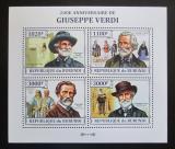 Poštovní známky Burundi 2013 Giuseppe Verdi, skladatel Mi# 3258-61 Kat 9.90€