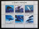 Poštovní známky Svatý Tomáš 2003 Delfíni Mi# 2136-41 Kat 10€