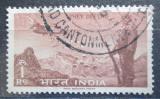 Poštovní známka Indie 1963 Letadlo nad krajinou Mi# 355