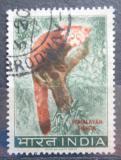 Poštovní známka Indie 1963 Panda červená Mi# 359
