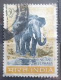 Poštovní známka Indie 1963 Slon indický Mi# 360