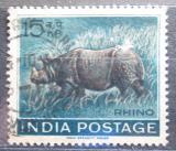 Poštovní známka Indie 1962 Nosorožec Mi# 346