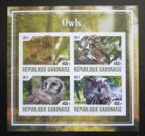 Poštovní známky Gabon 2017 Sovy neperf. Mi# N/N
