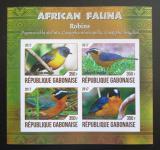 Poštovní známky Gabon 2017 Drozdi neperf. Mi# N/N