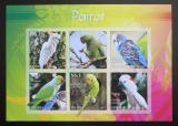 Poštovní známky Eritrea 2017 Papoušci neperf. Mi# N/N