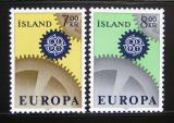 Poštovní známky Island 1967 Evropa CEPT Mi# 409-10
