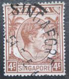 Poštovní známka Singapur 1949 Král Jiří VI. Mi# 4 C